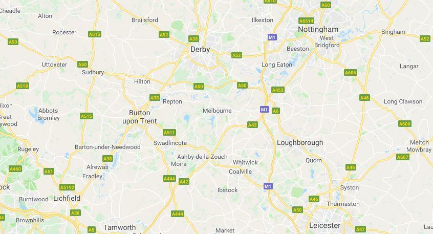 Areas we service including Burton on Trent, Derby, Lichfield, Tamworth, Derby, Ashby de la Zouch